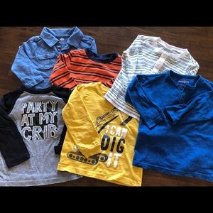 Bundle of Boys 18-24mo long sleeve tops (6 tops)